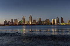 San Diego Skyline at Dusk Stock Photos