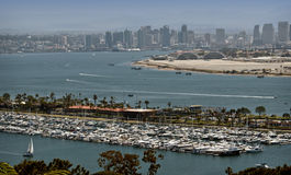 San Diego, skyline e porto fotografia de stock
