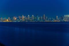 San Diego Skyline en última hora de la tarde Fotos de archivo libres de regalías