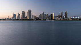 San Diego, California, USA downtown skyline with ocean view. San Diego, California Skyline in evening. View from Coronado Island stock images