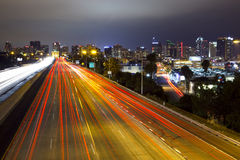 San Diego Skyline, Freeway Royalty Free Stock Image
