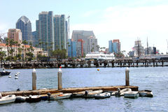 San Diego skyline and Marina. A view of the San Diego skyline and Marina Stock Photo
