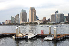 San Diego skyline & marina. San Diego skyline and a small marina Stock Photo