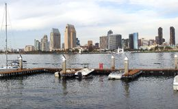 San Diego skyline & marina. Stock Images