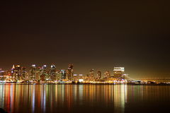 San Diego Skyline-Nacht Stockfotos