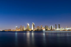San Diego Skyline at Night Royalty Free Stock Image