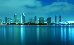San Diego Skyline at night royalty free stock photography