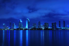 San Diego skyline at night Royalty Free Stock Photos