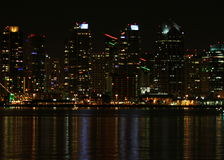 San Diego Skyline Night royalty free stock image