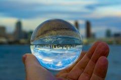 San Diego Skyline original imagens de stock