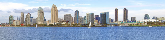 San Diego skyline panorama, California. Royalty Free Stock Images