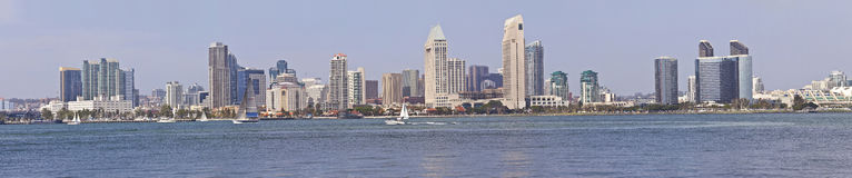 San Diego skyline panorama California. Stock Images