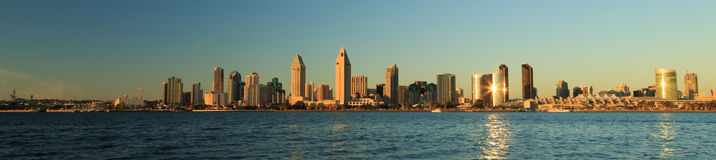 San Diego Skyline Panorama Royalty Free Stock Photos