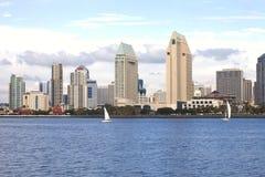 San Diego skyline & sailboats. Stock Photo