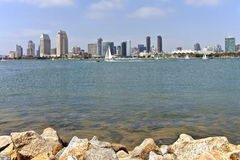 San Diego skyline and sailboats. Royalty Free Stock Photography