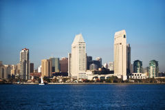 San Diego Skyline Seen from Across the Bay Royalty Free Stock Image