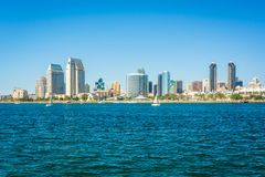 The San Diego skyline seen from Centennial Park, in Coronado, Ca Stock Photo
