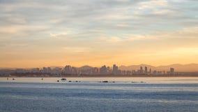 San Diego Skyline Sunrise Royalty Free Stock Photos