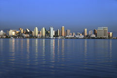 San Diego skyline at sunset Royalty Free Stock Photography