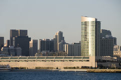 San Diego Skyline at Sunset. With Bay Royalty Free Stock Photography