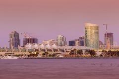 San Diego skyline at sunset. CA Royalty Free Stock Image