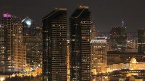 San diego skyline time lapse night stock footage