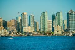 San Diego Skyline Towers Fotografía de archivo libre de regalías
