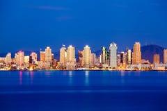San Diego Skyline in twilight Royalty Free Stock Image
