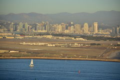 San Diego Skyline view at Cabrillo National Monument Stock Photography