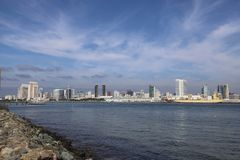 San Diego skyline royalty free stock image