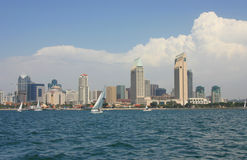 San Diego Skyline from the Water Royalty Free Stock Photography