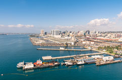 San Diego skyline and waterfront. Daytime royalty free stock image