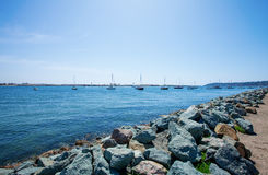 San Diego skyline and Waterfront. Ocean royalty free stock image