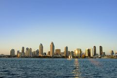 Free San Diego Skyline With A Sailboat At Sunset Stock Photos - 15584793