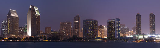San Diego-Skylinepanorama Lizenzfreies Stockfoto