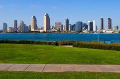 San Diego skyscrapers. From Coronado Island royalty free stock image