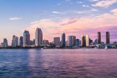 San Diego solnedgång Arkivbild