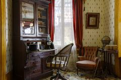 San Diego spökade hus Whaley husmuseum, gammal stad royaltyfria foton