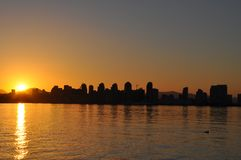 San Diego at Sun Rise Stock Photo