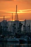 San Diego Sunrise. Taken from Harbor Island, San Diego, CA stock photography
