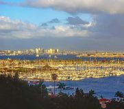 San Diego at sunset , California Royalty Free Stock Images