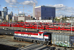 San Diego Trolley Train Royalty Free Stock Photos