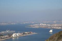 San Diego und der Marineflughafen vom Point Loma in Kalifornien Lizenzfreie Stockfotografie