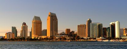 San Diego, USA. Stock image of San Diego waterfront and skyline stock image