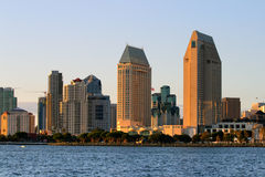 San Diego, USA. Stock image of San Diego waterfront and skyline stock image