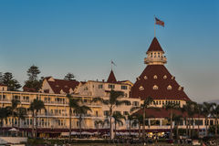 San Diego, USA - October 29, 2015: Famous Hotel del Coronado during sunset in San Diego, California Stock Image