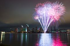 San Diego vierde van Juli-vuurwerk royalty-vrije stock afbeelding