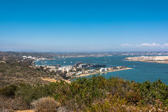 San Diego view from Point Loma, California Royalty Free Stock Photos