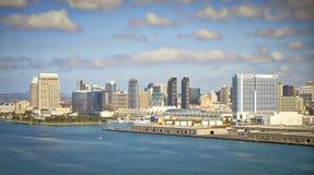San Diego Vista, opinión del puente, California Imágenes de archivo libres de regalías