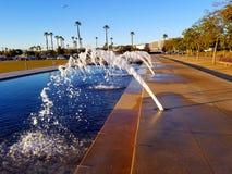 San Diego Water Front Park Fountain Royaltyfria Bilder